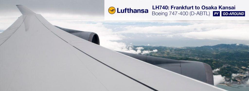 LH 747-400 in PY with a Go Around (FRA-KIX)