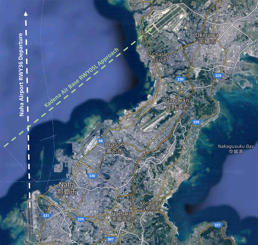 Naha Departure Map