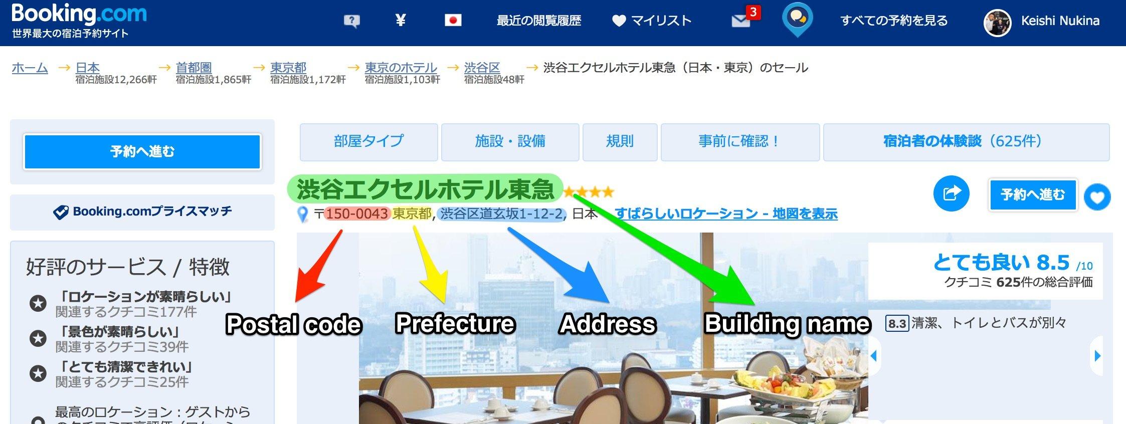 Japanese Address
