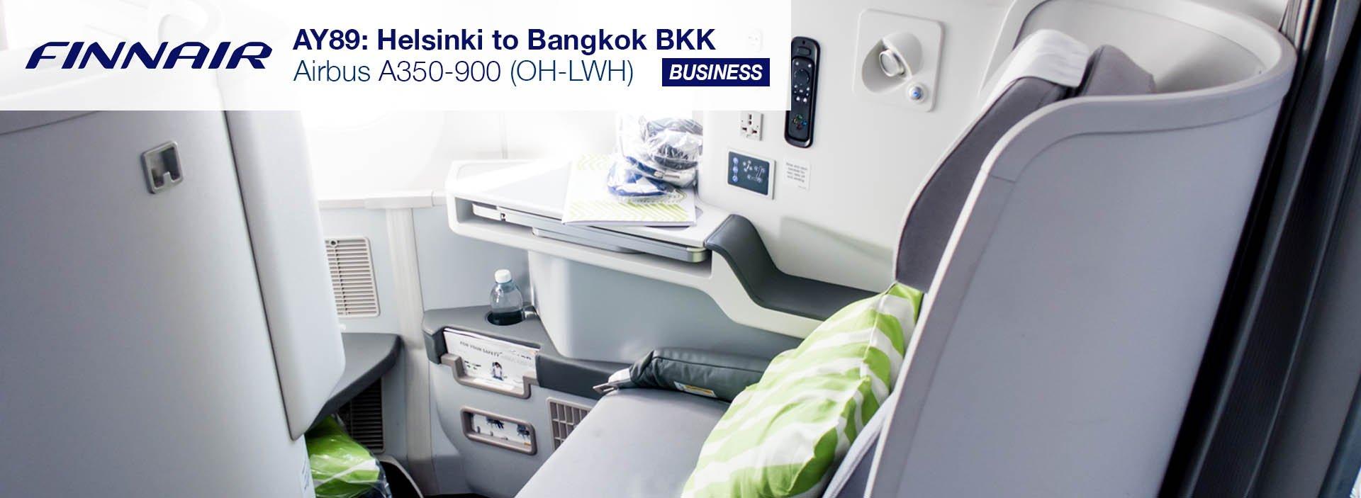 Finnair A350 Business Class Review (Helsinki to Bangkok)