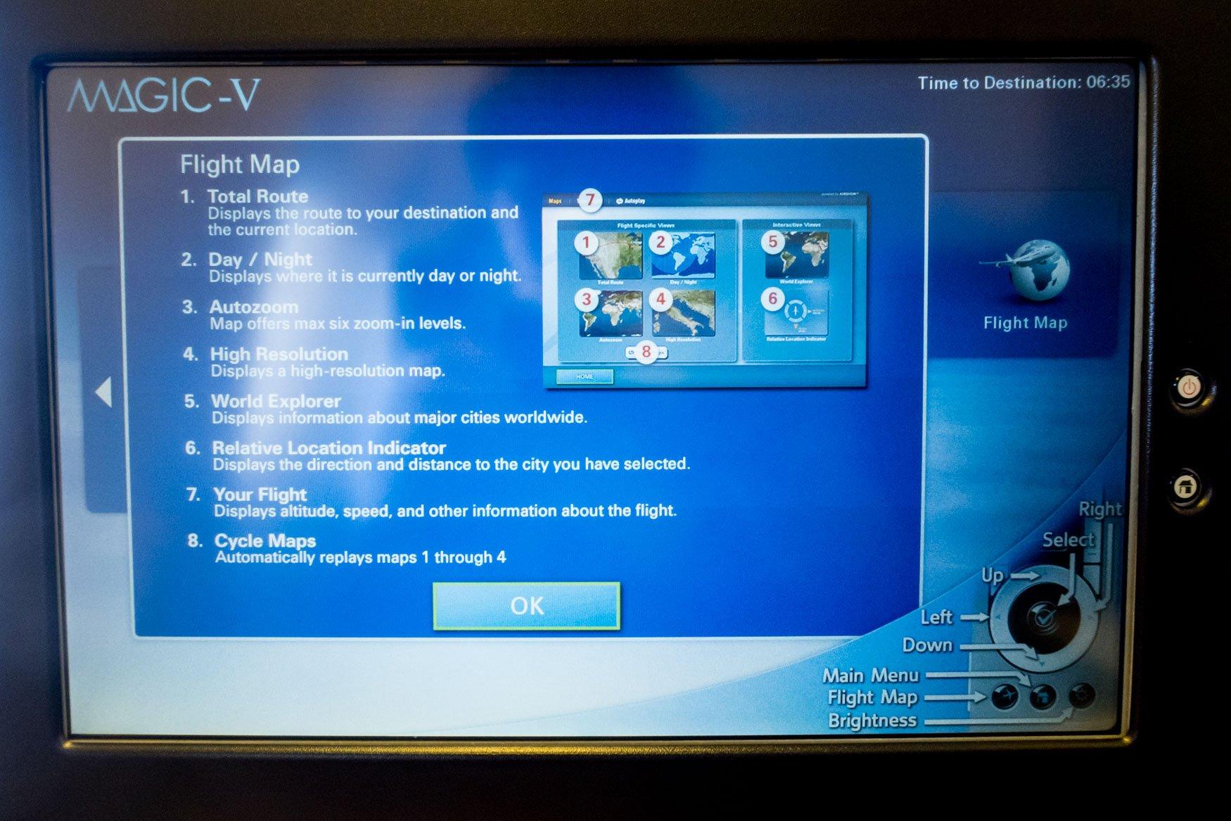 JAL MAGIC V In-Flight Map