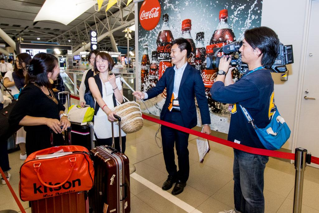 Passengers Being Interviewed