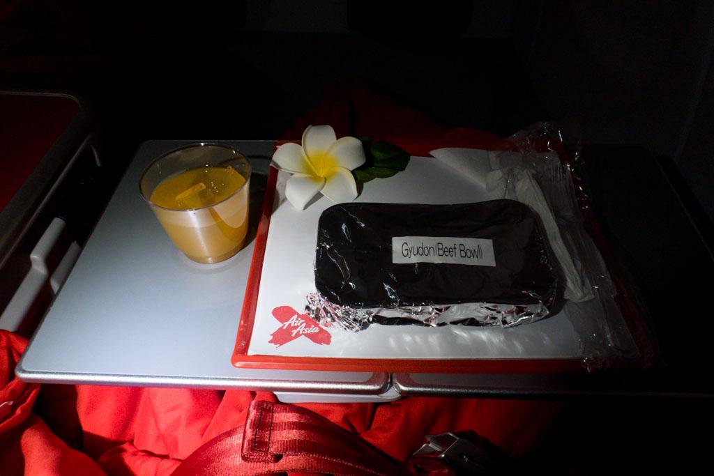 AirAsia X Premium Flatbed Meal