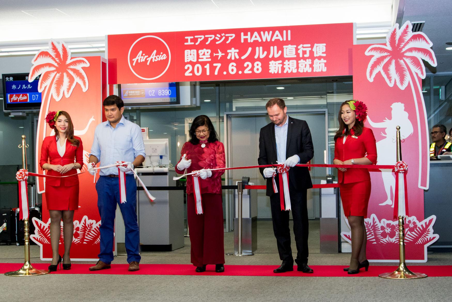 AirAsia X Inaugural Osaka to Honolulu Tape Cut