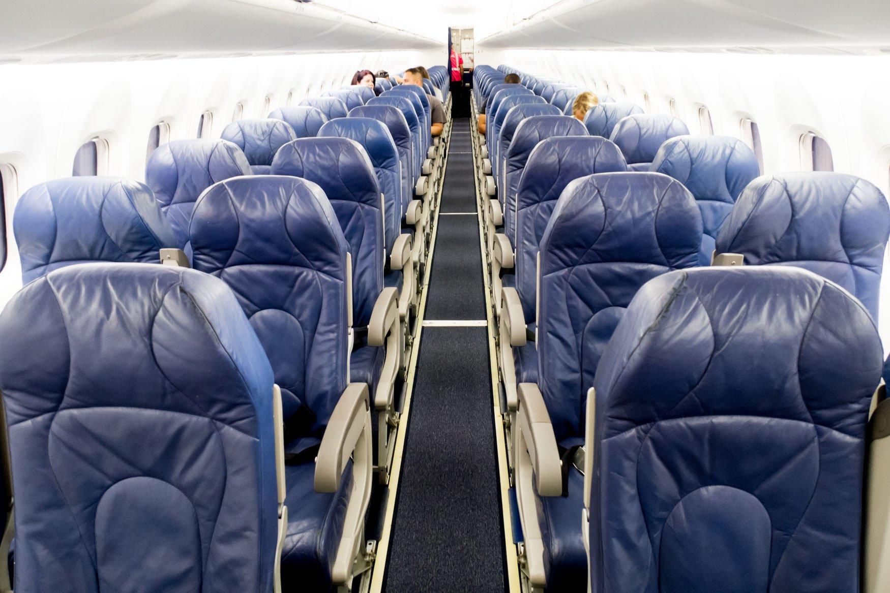 Island Air Dash 8 Q400 Cabin