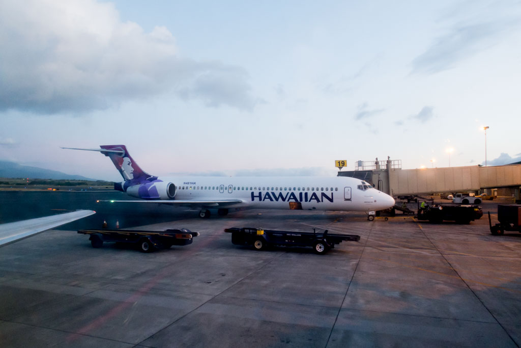 Window View from Hawaiian Airlines Boeing