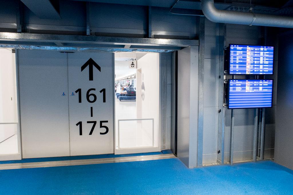 Gates 161 - 175 at Narita