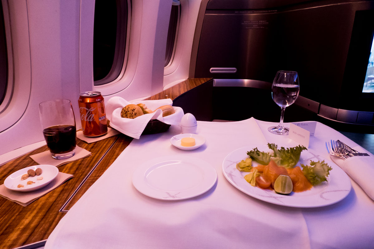 Dinner Cathay Pacific First