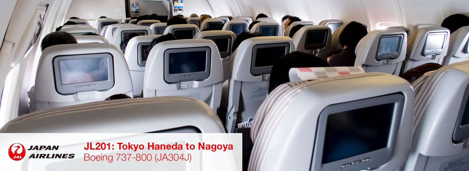 Review: JAL 737-800 Domestic Economy Class from Tokyo Haneda to Nagoya