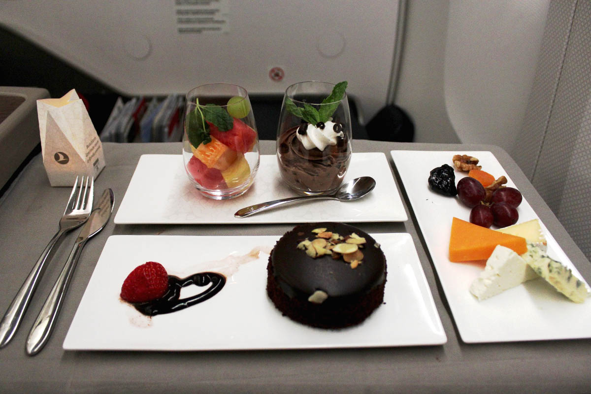Turkish Airlines Business Class Meal