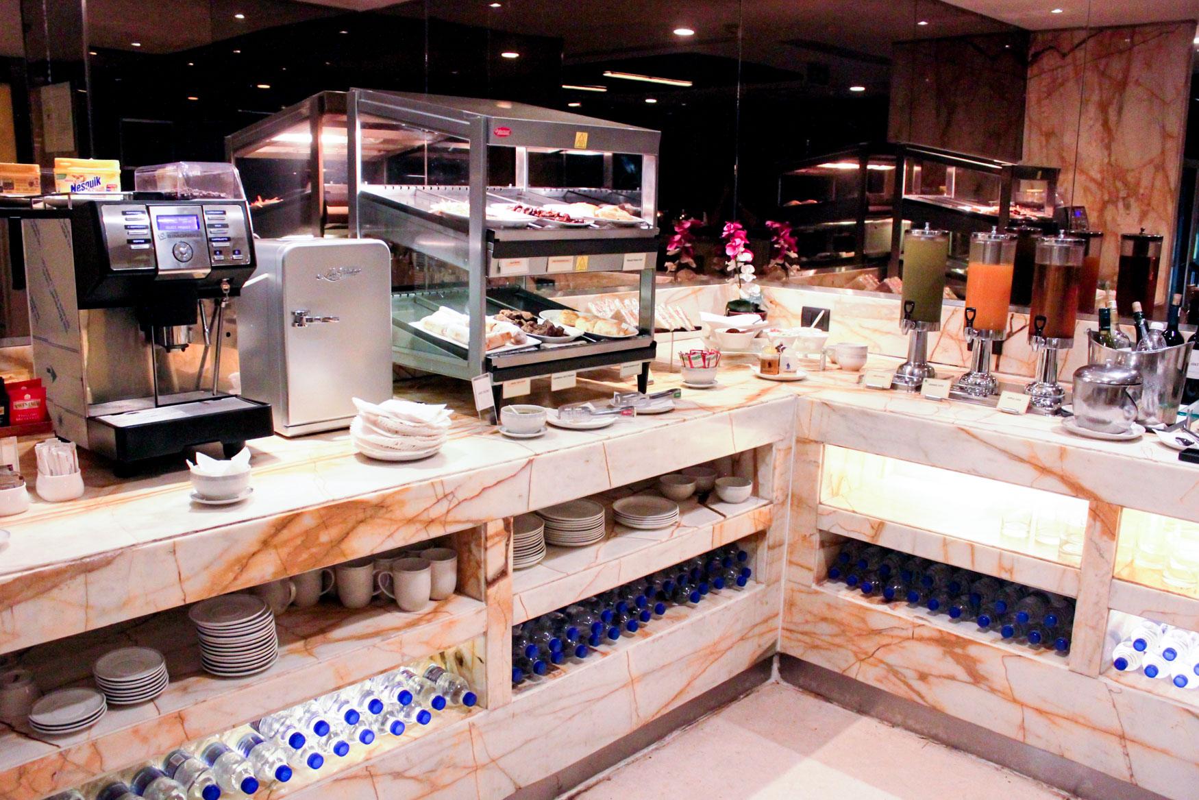 SilverKris Lounge Delhi Food Selection