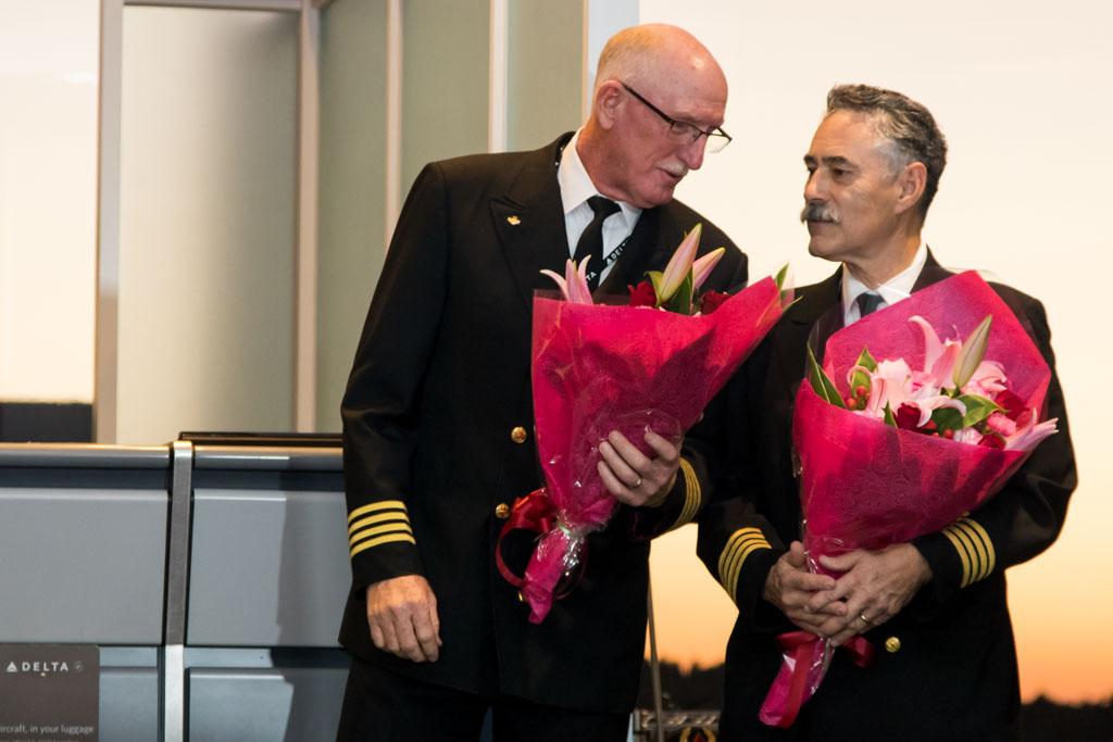 Captains with Bouquets