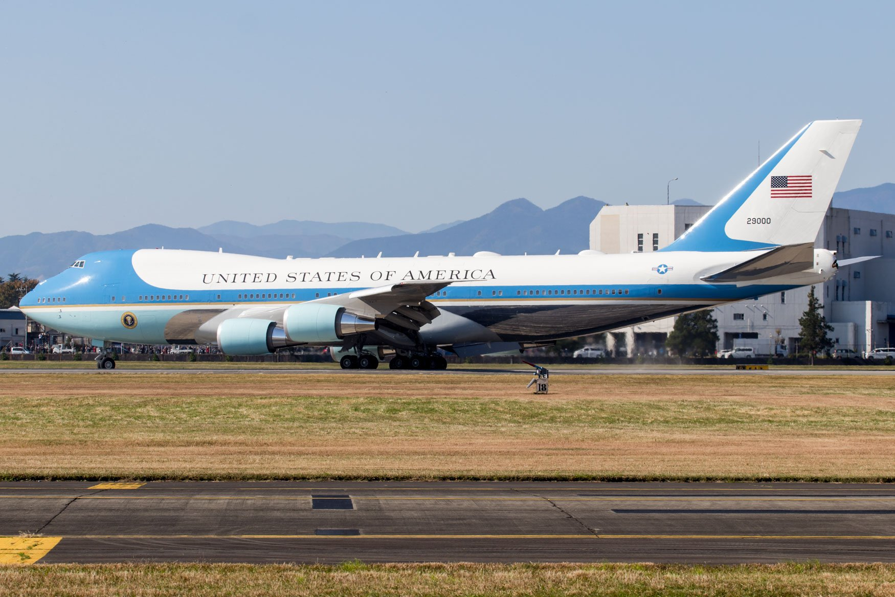 Air Force One Turning