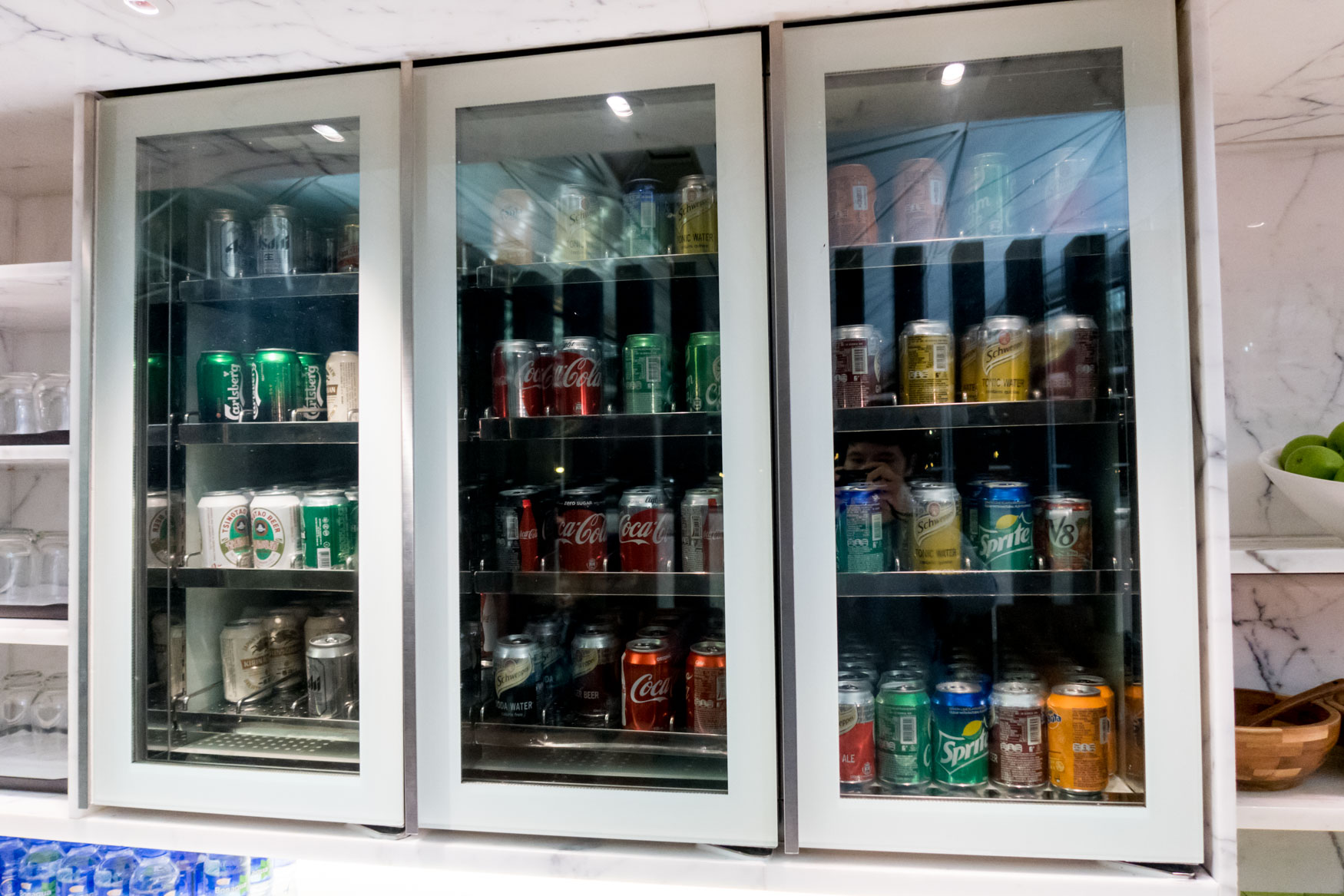 """Cathay Pacific """"The Wing, Business"""" Canned Soft Drinks and Beer"""