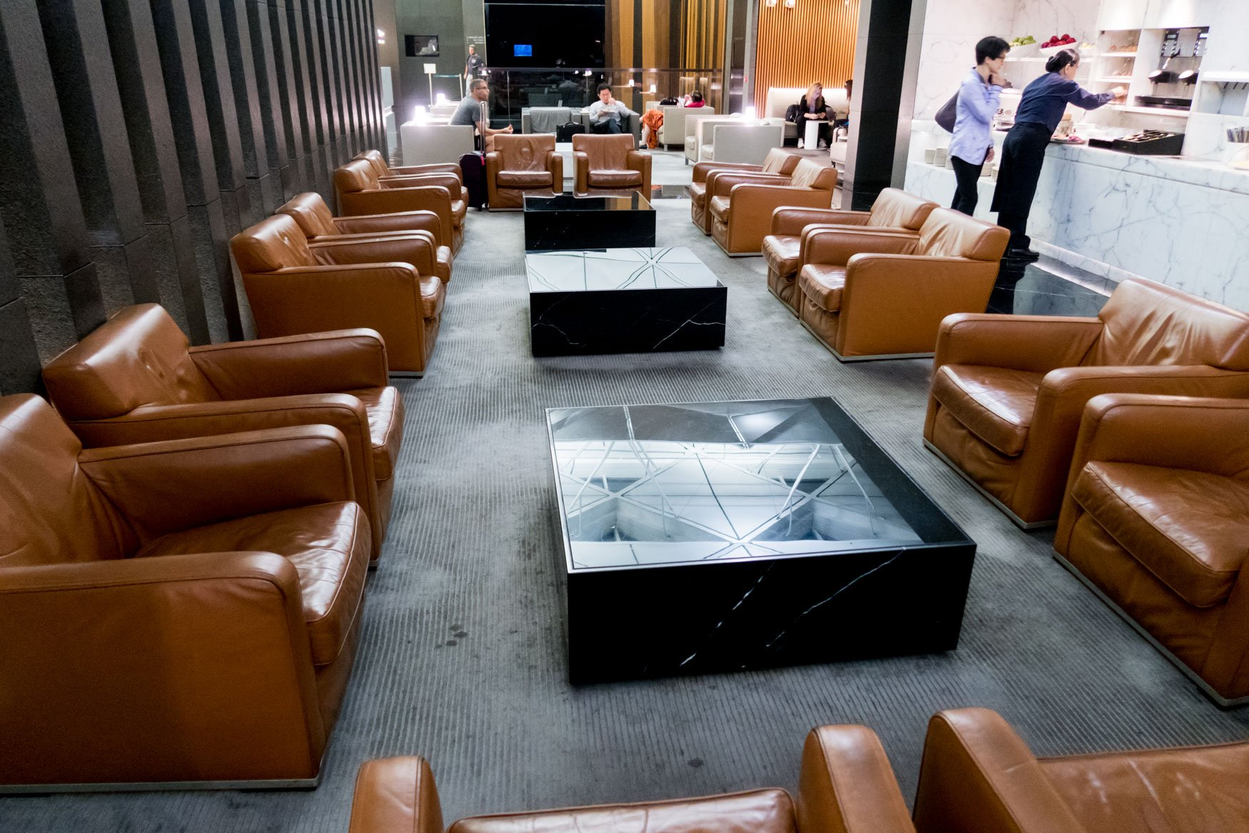 Seating in the Buffet Area