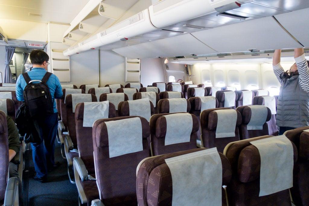 Korean Air 747 Economy Class Cabin