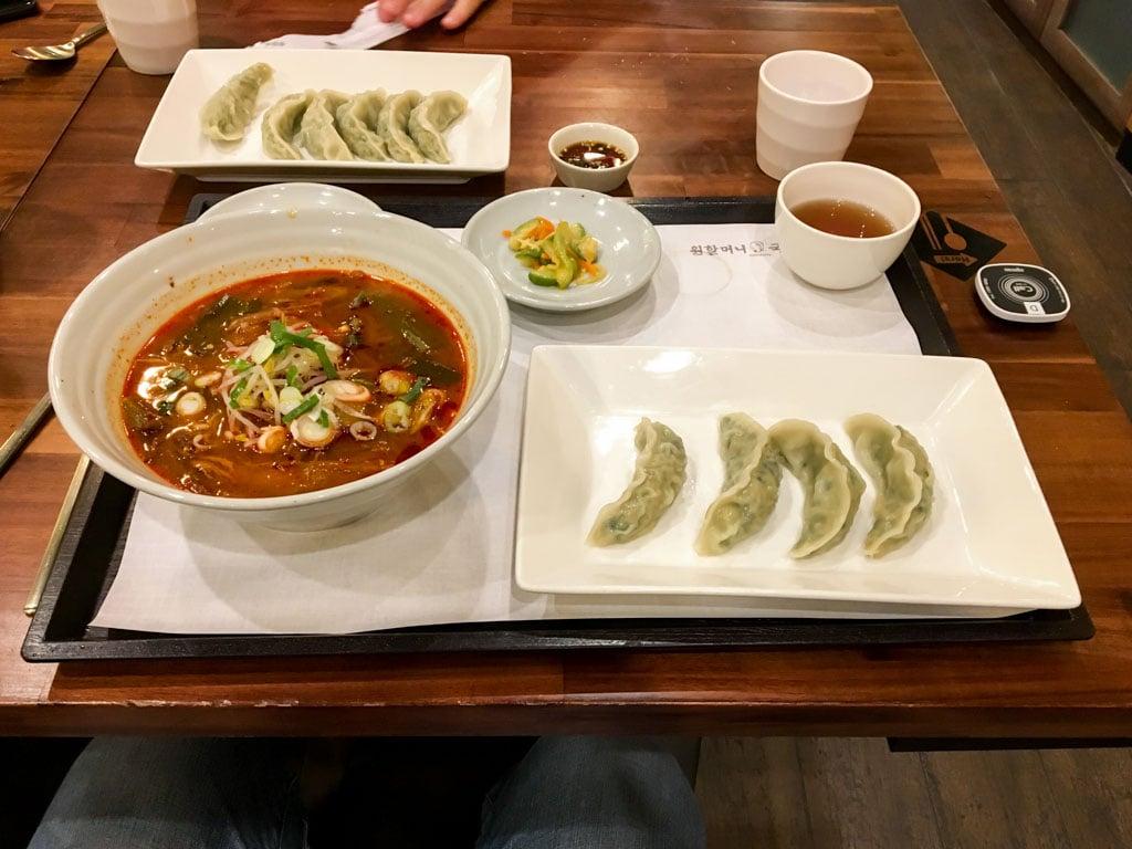 Spicy Noodles and Dumplings