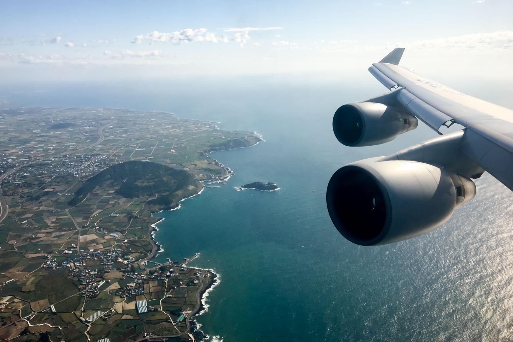 Approaching Jeju Island