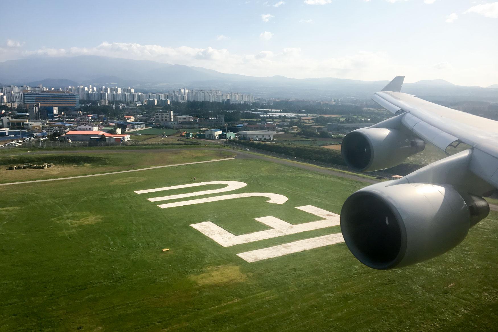 Jeju Airport Landing