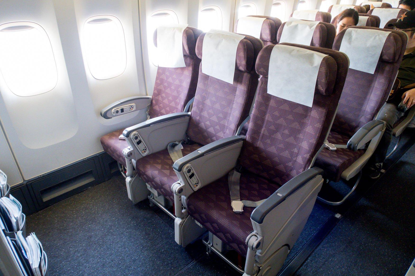 Korean Air 747-400 Economy Class