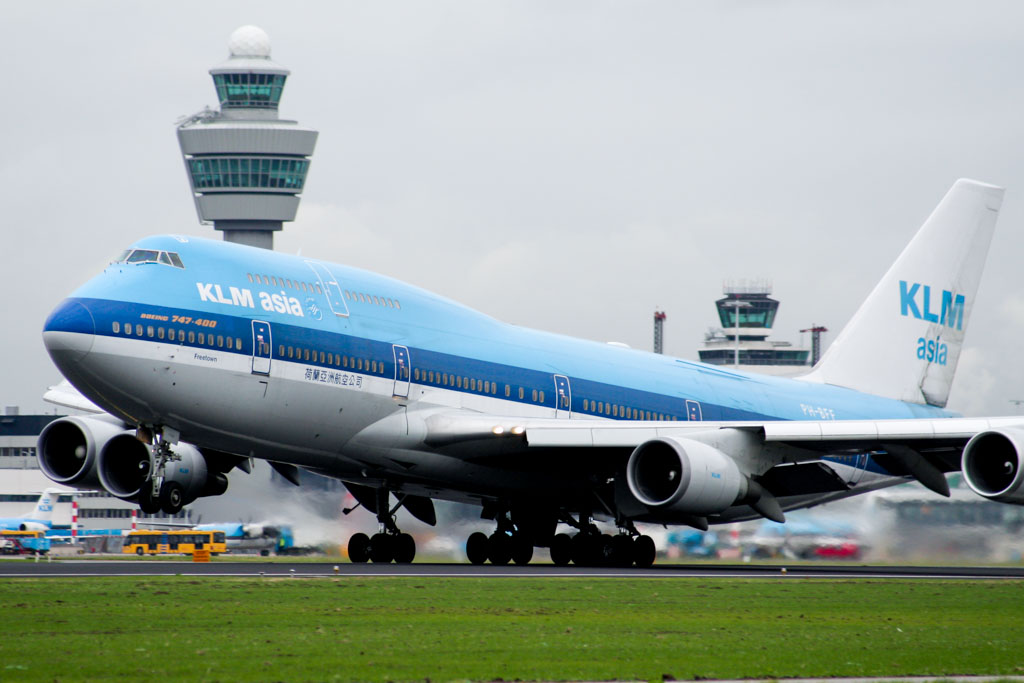 KLM Asia 747-400 at Amsterdam Schiphol