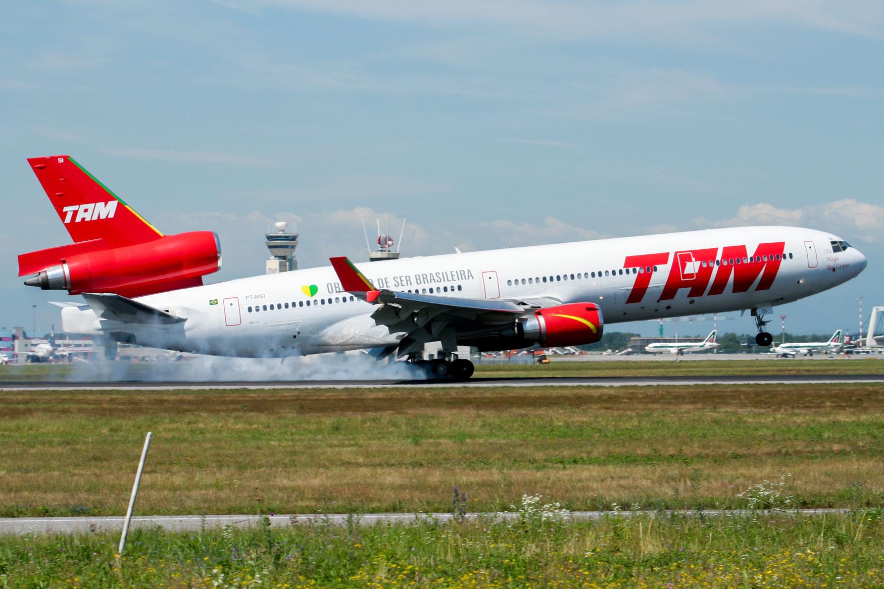 TAM Brasil MD-11 at Milan Malpensa