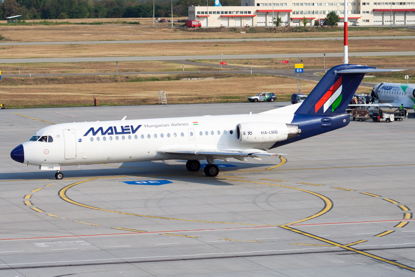 Malev F70 at Budapest Airport