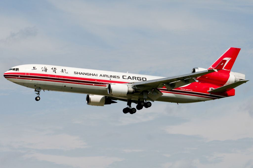 Shanghai Airlines Cargo MD-11 at Frankfurt