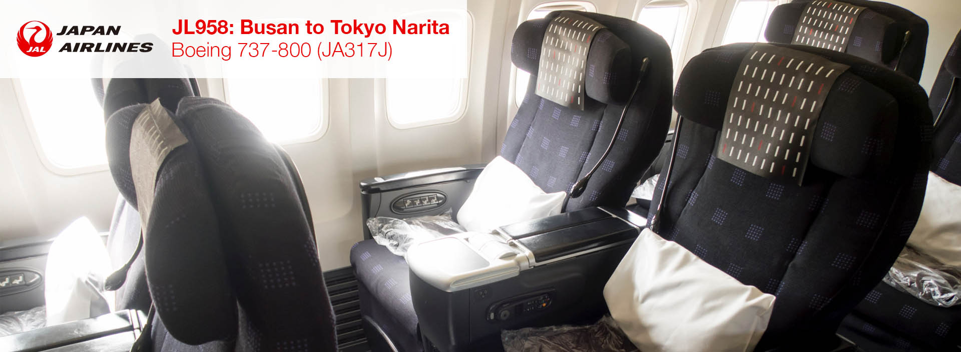 Review: JAL 737-800 Business Class from Busan to Tokyo Narita