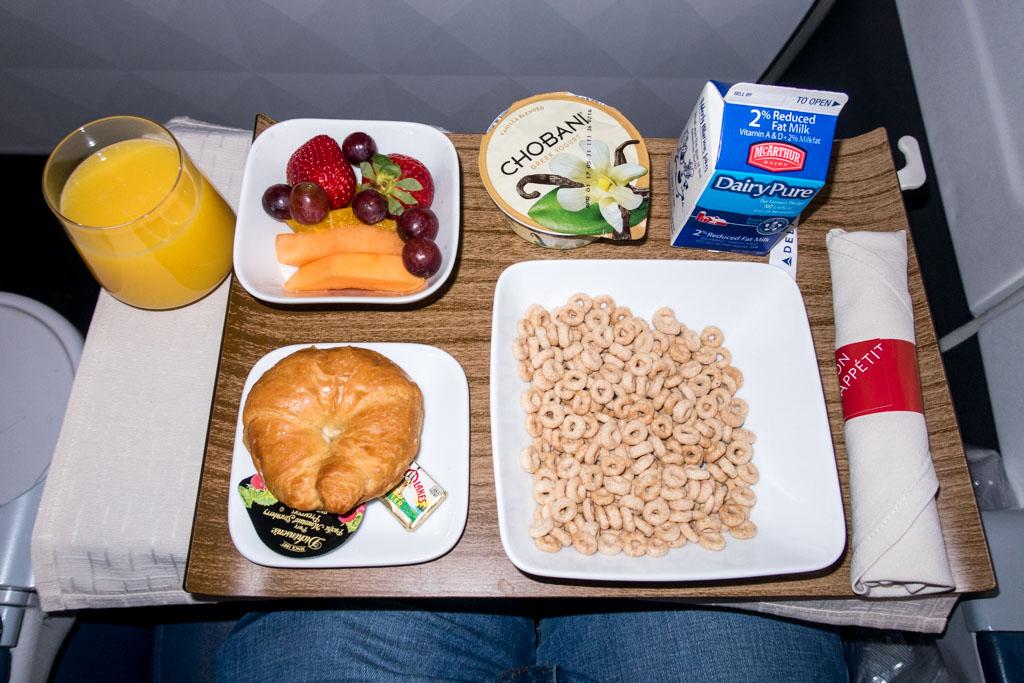Delta Air Lines First Class Breakfast