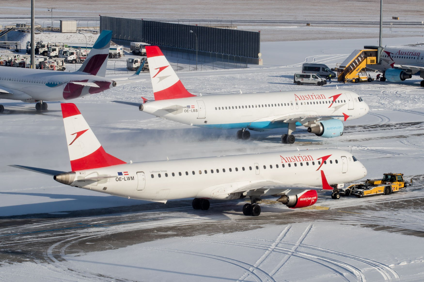 Vienna Airport in Snow