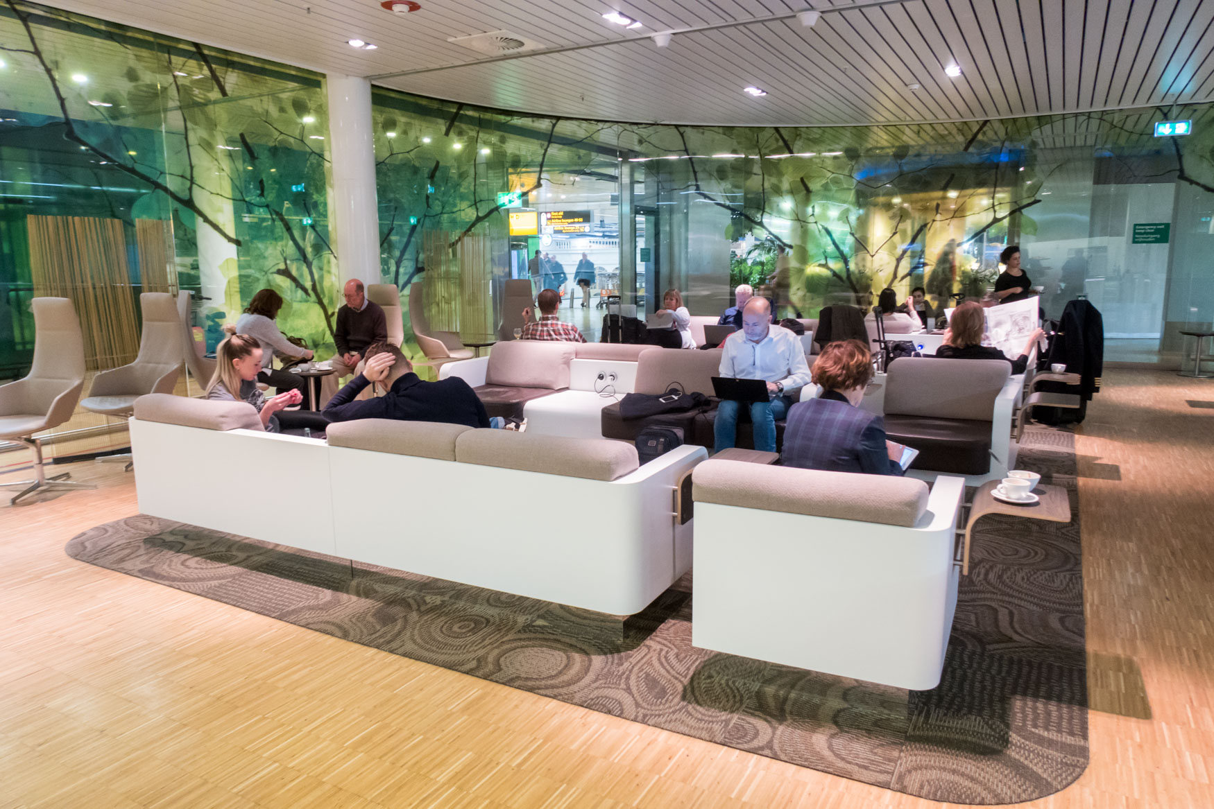 Seating in Aspire Lounge Schiphol