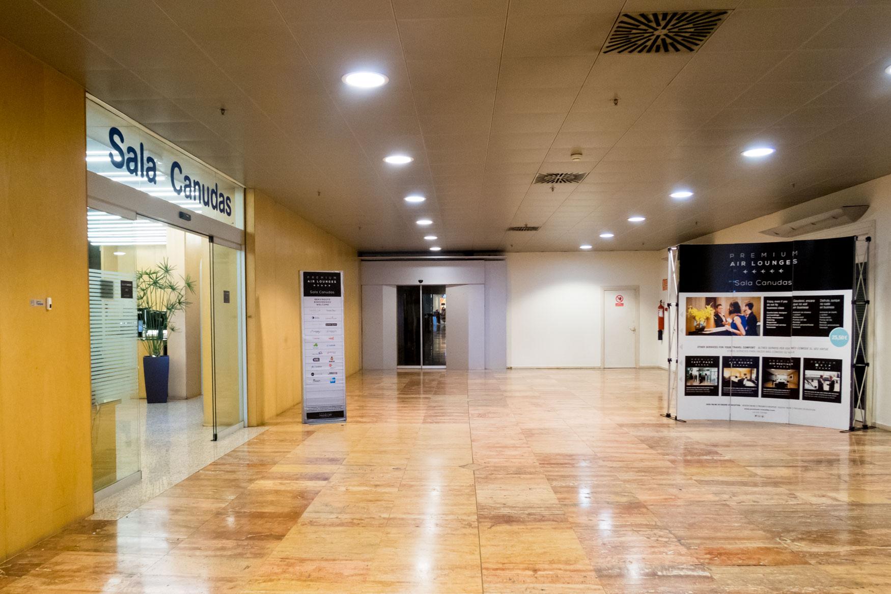 Entrance to Sala VIP Canudas at Barcelona El Prat