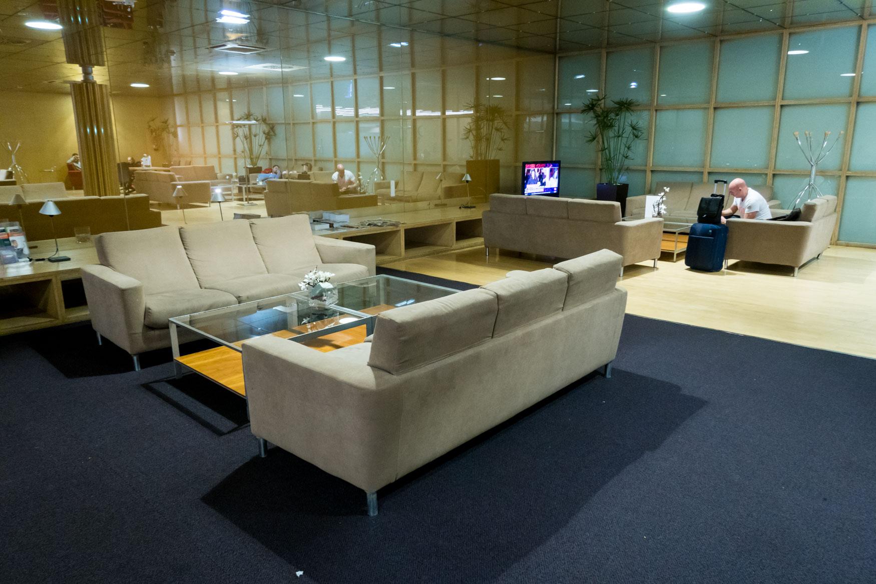Main Seating Area of Sala VIP Canudas