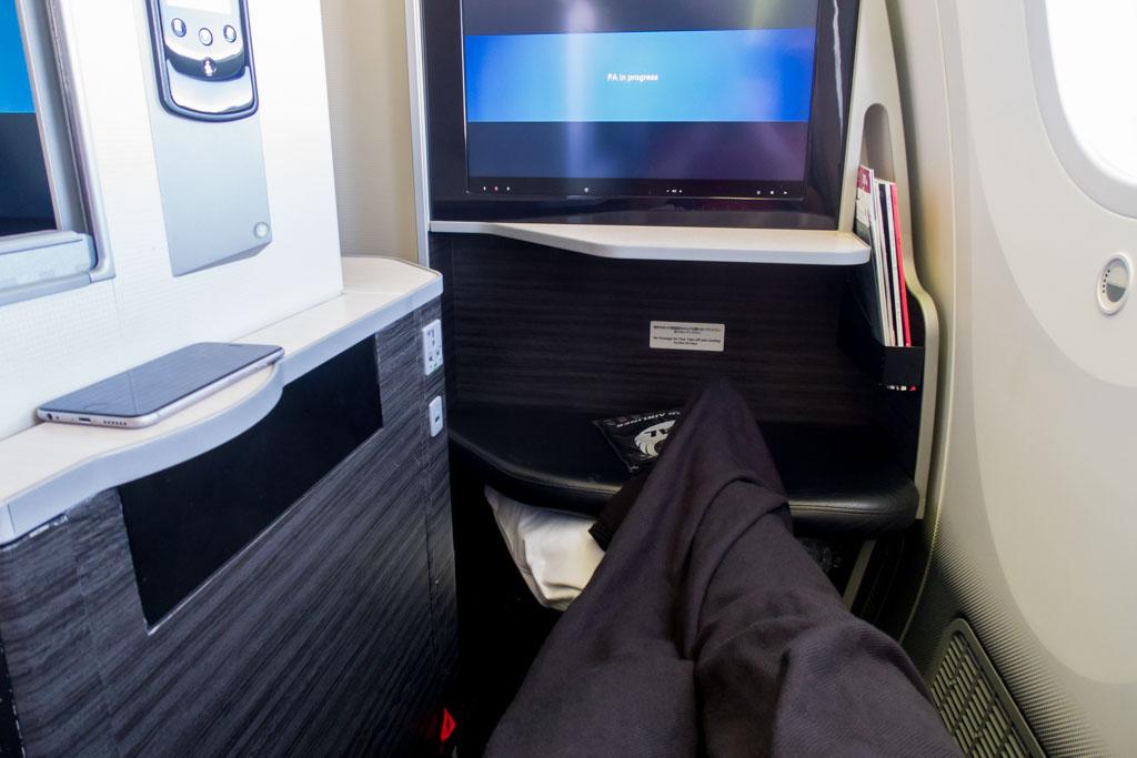 JAL Business Class Legroom