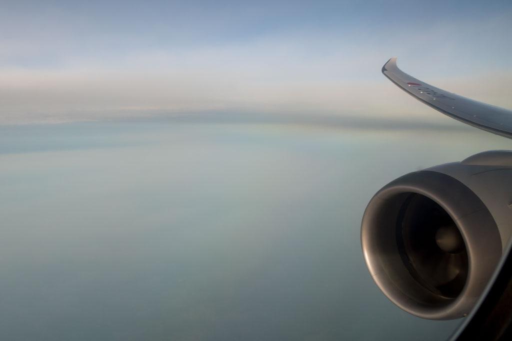 Approaching Delhi Indira Gandhi International Airport