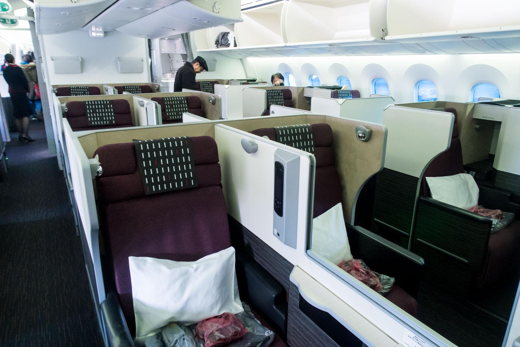 JAL Business Class Cabin