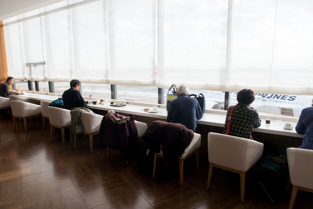 JAL Sakura Lounge Dining Area