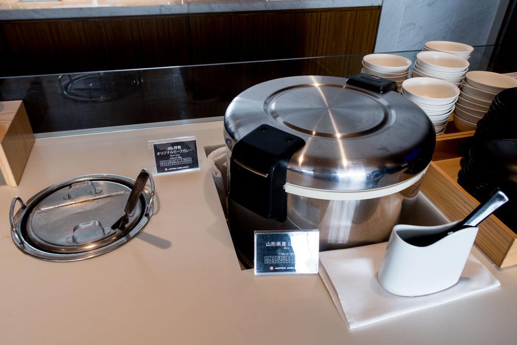 JAL Sakura Lounge Japanese Meal Option