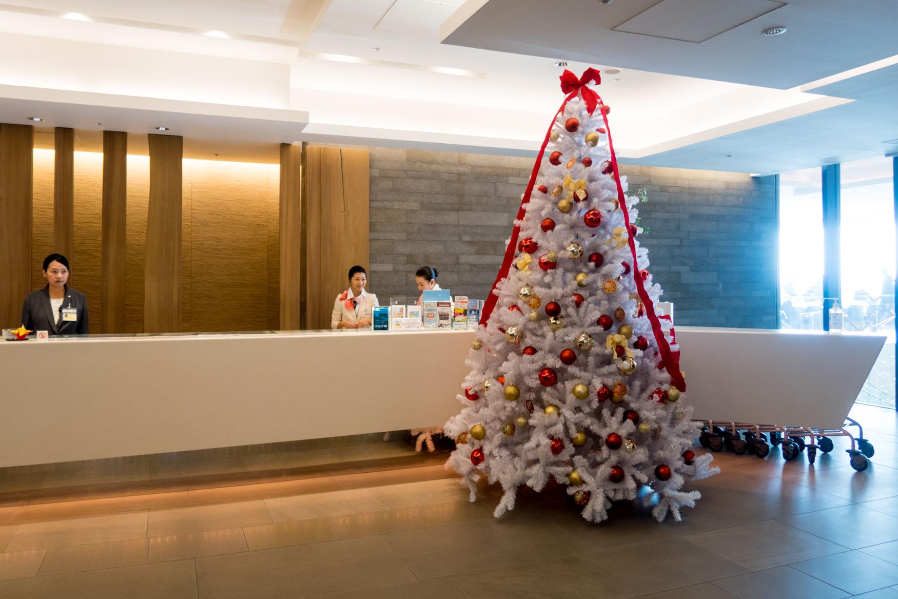 JAL Sakura Lounge Reception