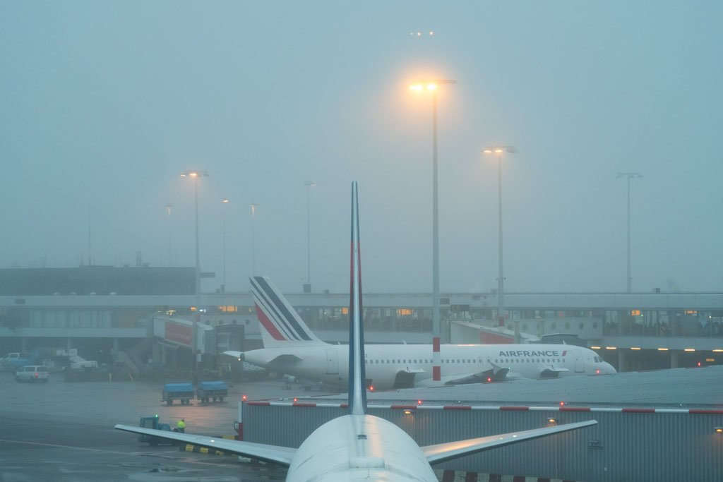 Foggy Morning at Amsterdam Airport