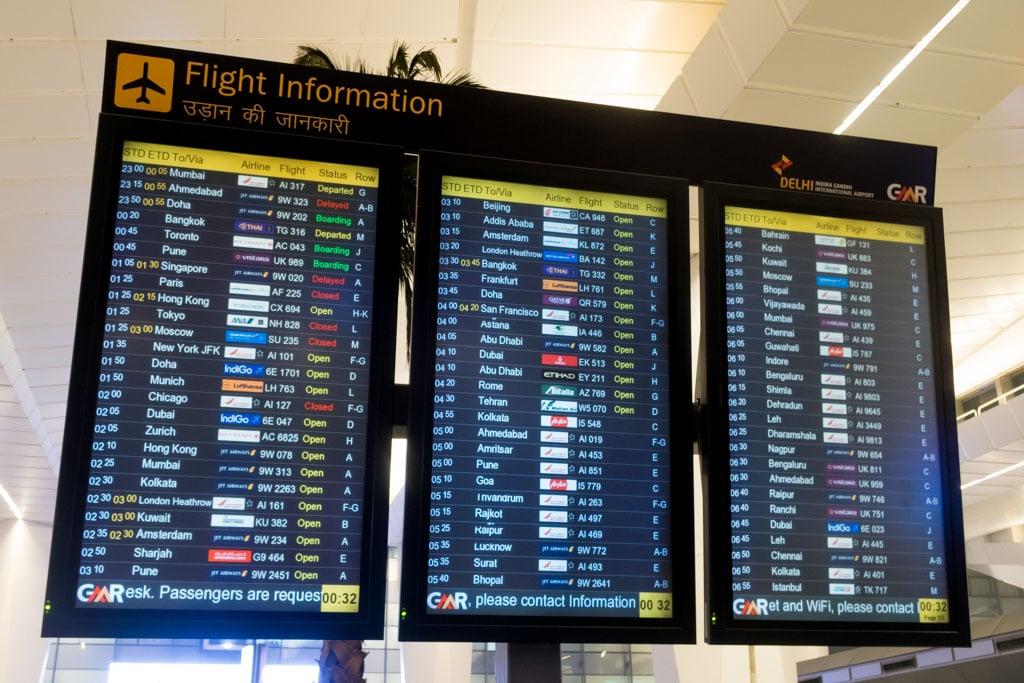 Delhi Airport FIDS