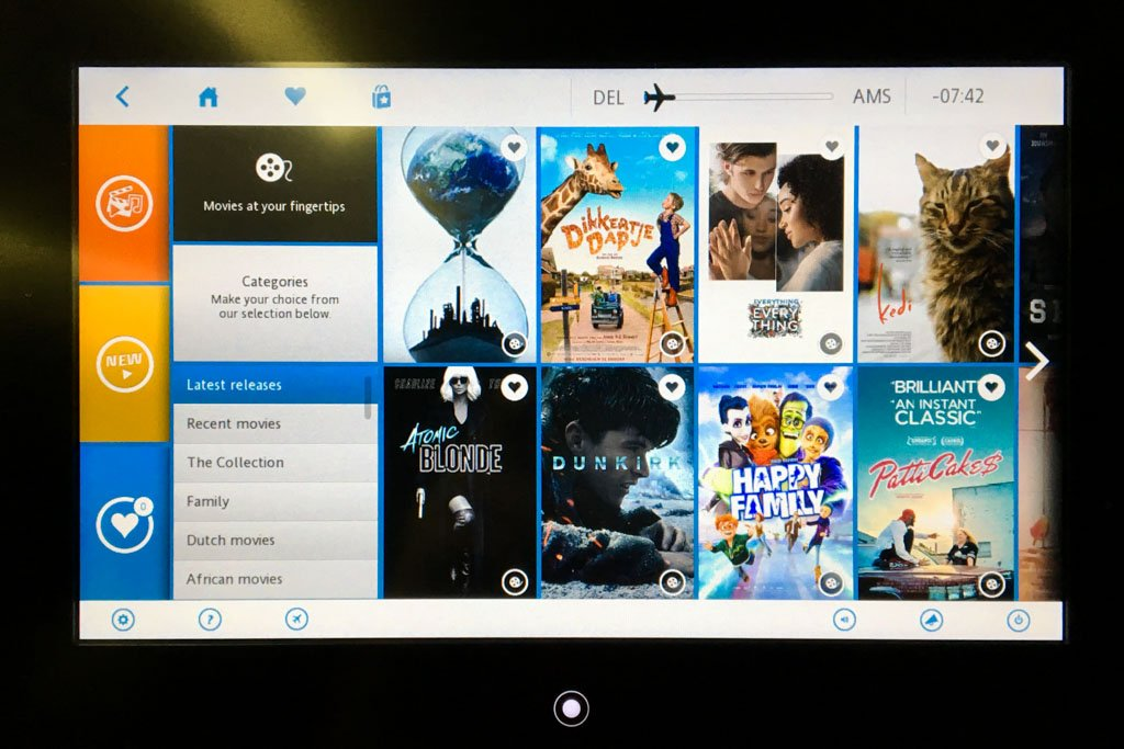 KLM Movie Selection