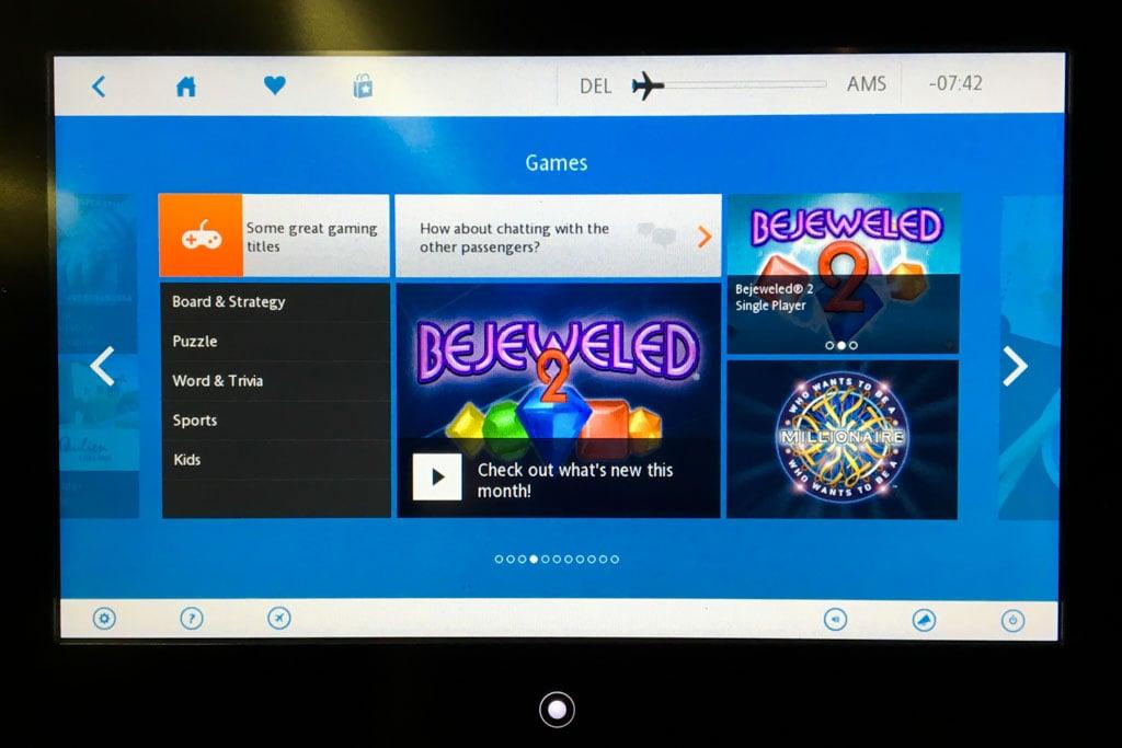 KLM In-Flight Entertainment Games