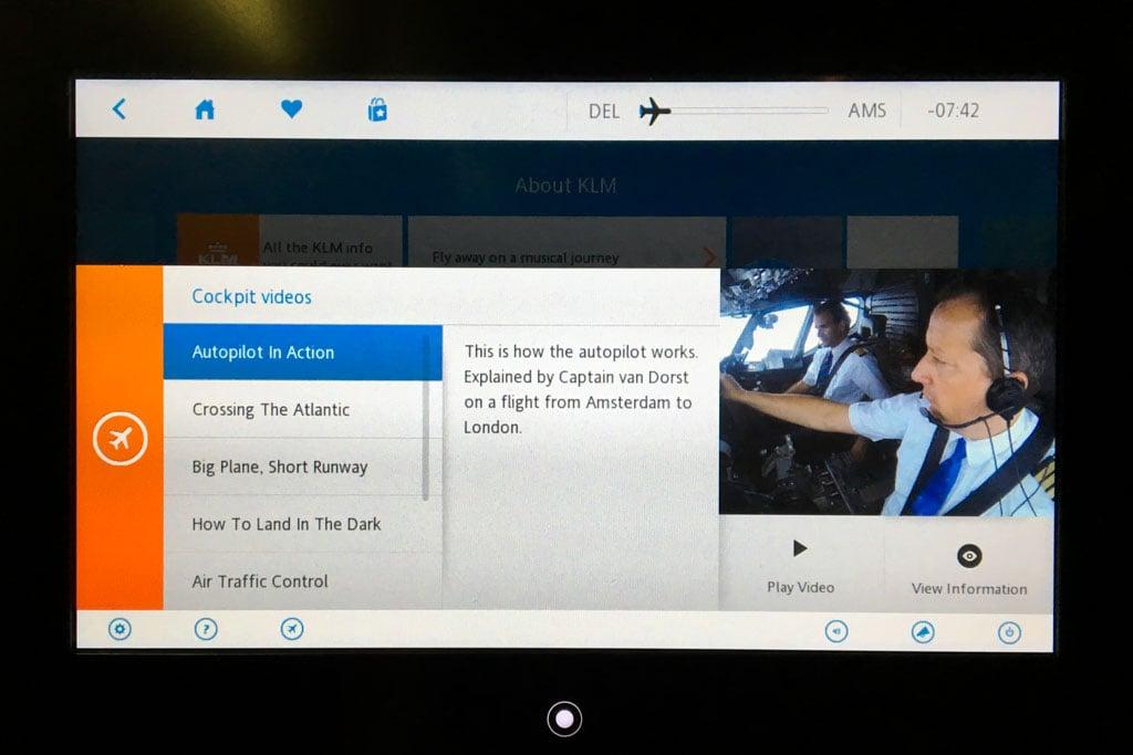 KLM Cockpit Videos