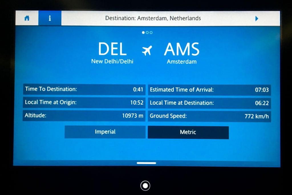 KLM Flight Information