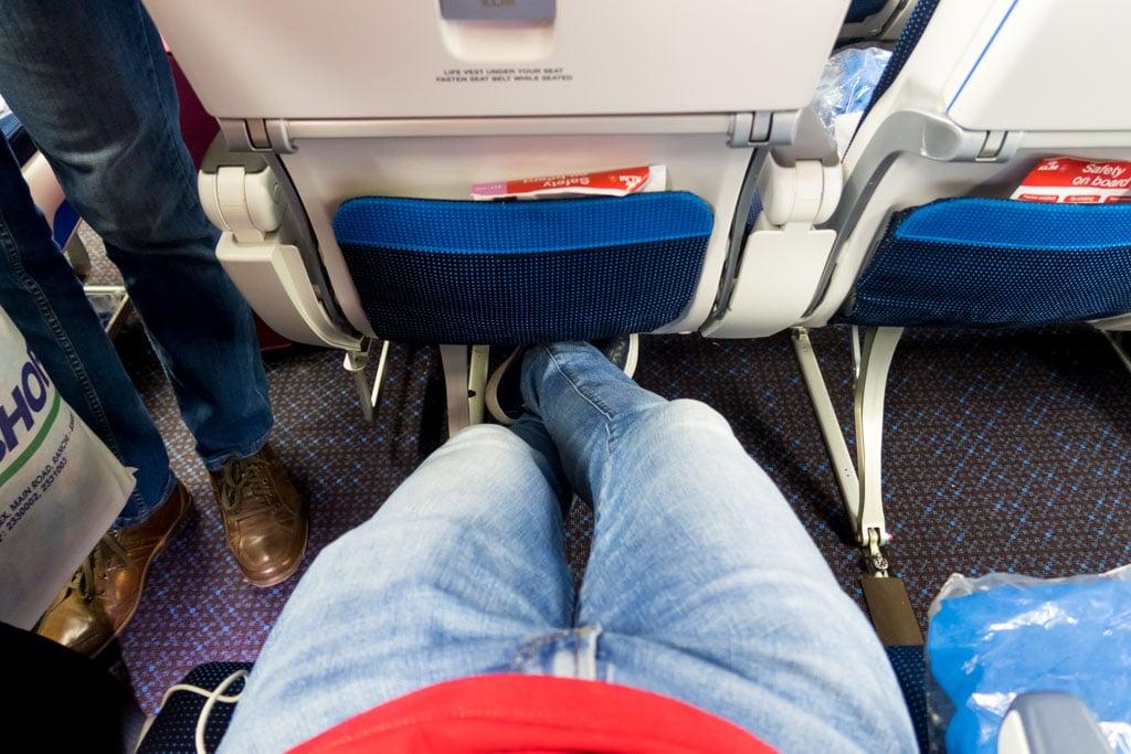 KLM Economy Class Legroom