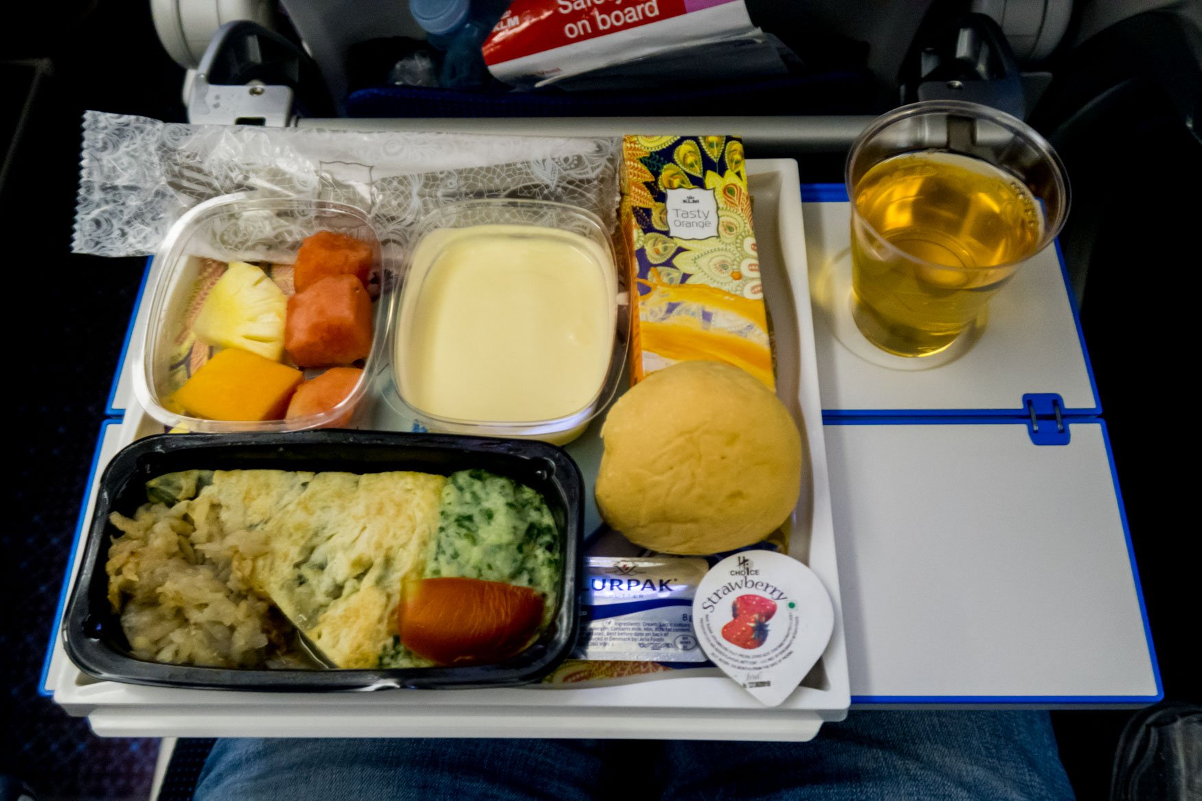 KLM Economy Class Meal