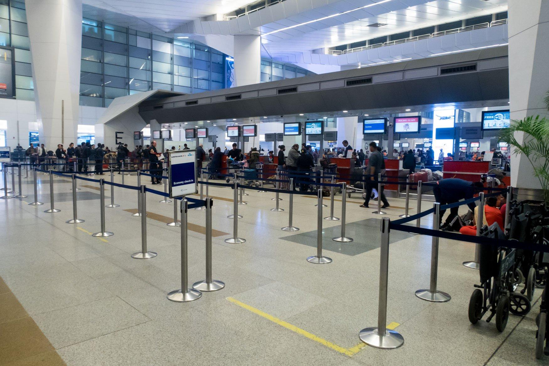 Delhi KLM Check-in Counters