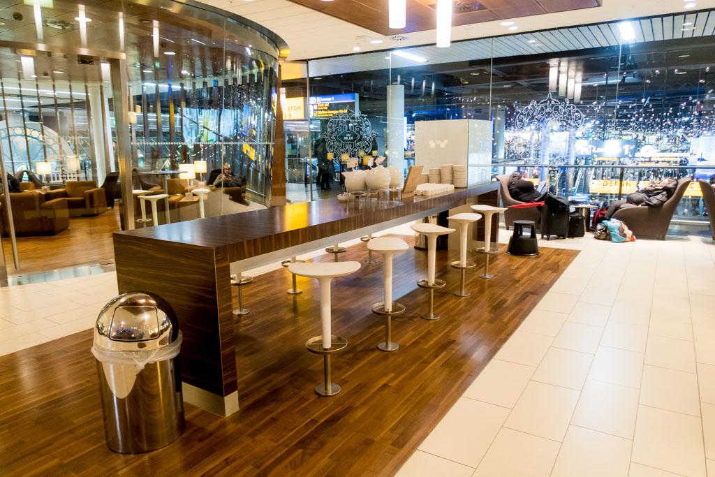 KLM Crown Lounge Schengen Amsterdam Seating